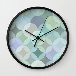 Shades of blue circle mosaic Wall Clock