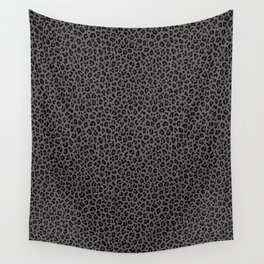 LEOPARD PRINT in Black & Gray / Collection : Leopard spots – Punk Rock Animal Print Wall Tapestry