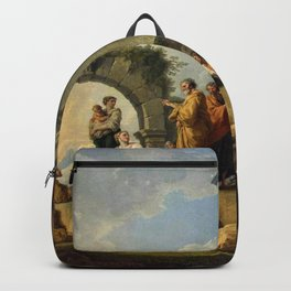 Giovanni Paolo Pannini's Masterpiece: The Apostle Paul Preaching on the Ruins. Backpack