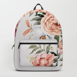 Muted Peonies and Poppies Backpack