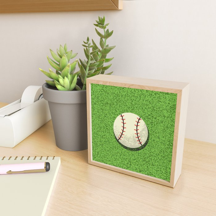 Baseball Ball Framed Mini Art Print