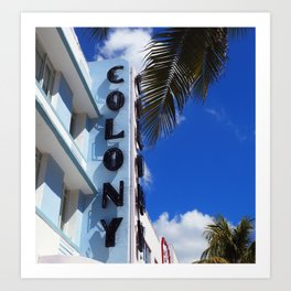 Colony Hotel: Miami Art Deco Art Print
