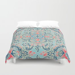 Gypsy Floral in Red & Blue Duvet Cover