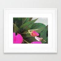 hot pink Framed Art Prints featuring Hot Pink by Glenn Designs