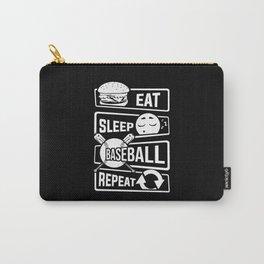 Eat Sleep Baseball Repeat - Home Run Strike Batter Carry-All Pouch