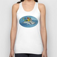 the whale Tank Tops featuring whale by Кaterina Кalinich