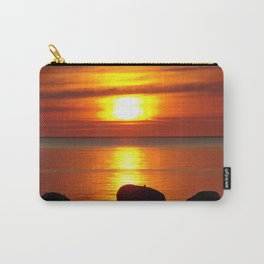 Hazy Seaside Sunset Carry-All Pouch