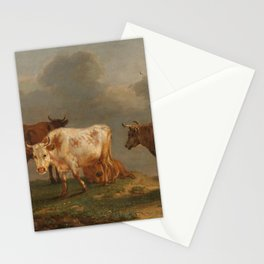 Four cows in a meadow - Paulus Potter (1651) Stationery Cards