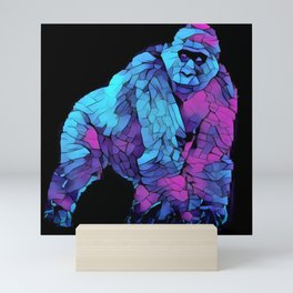 Colorful Lowland Gorilla Mini Art Print
