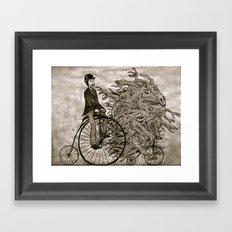I love my bicycle Framed Art Print
