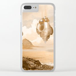 Mission on a far planet Clear iPhone Case