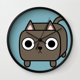 Cat Loaf - Brown Kitty Wall Clock