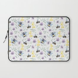 Watercolor Bees and florals | Save the bees Laptop Sleeve