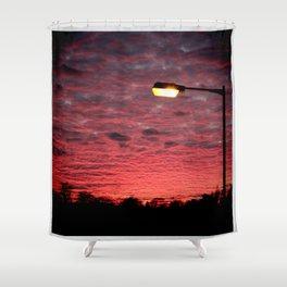British Winter Sunset Shower Curtain