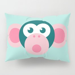 """Oops!"" Stylized Monkey - Zoo series Pillow Sham"