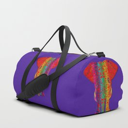 Rainbow Ganesha (Purple Background) Duffle Bag