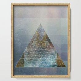 Perseid - Contemporary Geometric Pyramid Serving Tray