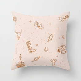 Cowboy Things Throw Pillow