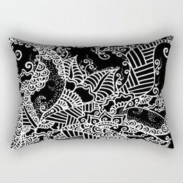 Zen Tree Rebirth Black Right Half Rectangular Pillow
