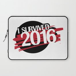 I survived 2016 - red Laptop Sleeve