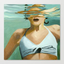 Girl in Water Canvas Print