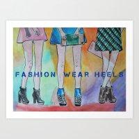 Fashion wear heels Art Print