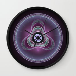 Elven Shield Boss Wall Clock