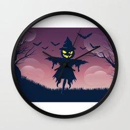 Scarecrow - Happy Halloween Wall Clock