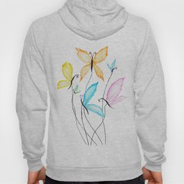 colorful flying butterflies Hoody