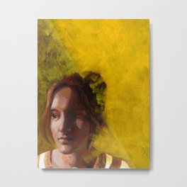 Megan, Fine Art Oil Painting Portrait Print Metal Print