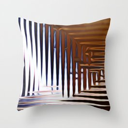 Bright Grid Throw Pillow