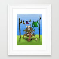 sheep Framed Art Prints featuring Sheep by Anna Shell