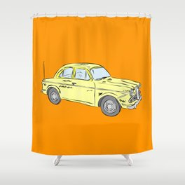2 caballos viejo carro / old car custom spain ols model Shower Curtain