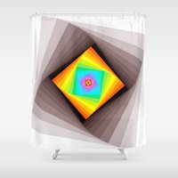 quilt Shower Curtains featuring Digital Quilt by Take Five