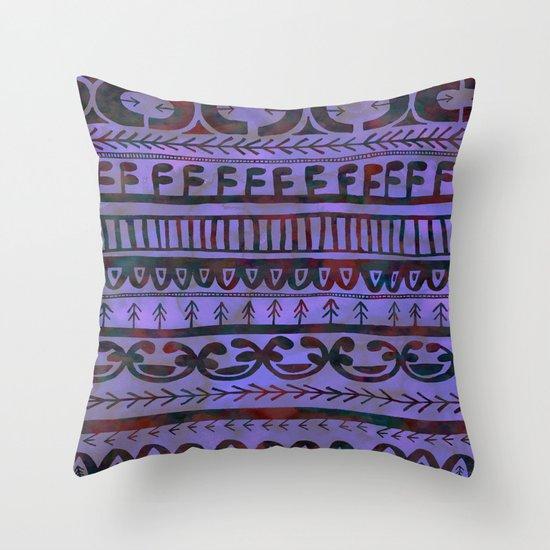 Noni- Purple Throw Pillow