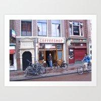 Amsterdam Coffeshop Art Print