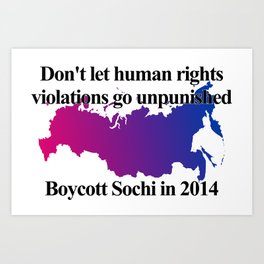 Boycott Sochi - Bisexual Flag Gradient Art Print