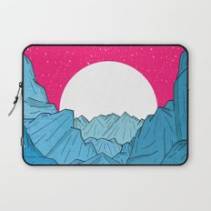 The moon over the mountains Laptop Sleeve