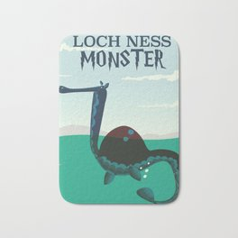 Loch Ness Monster vintage 'children's book' travel poster Bath Mat
