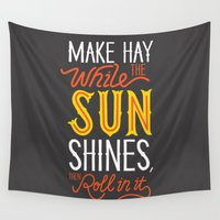 sunshine Wall Tapestries featuring Sunshine by Wharton