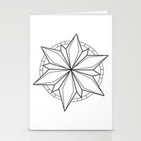 compass Stationery Cards featuring Compass by Cecilie