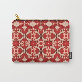 ikat geo mix patched in brigh red Carry-All Pouch