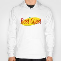 seinfeld Hoodies featuring Best Coast - Seinfeld style by ernieandbert