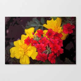 French Marigolds & Verbena Canvas Print