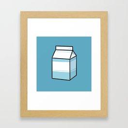 Milk Carton Framed Art Print