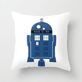 R2-TARDIS Throw Pillow
