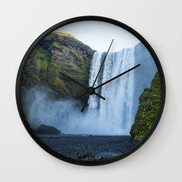 Skogafoss Wall Clock