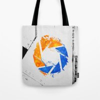 aperture Tote Bags featuring Aperture Vandal by Toronto Sol