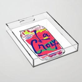 passionfruit La Croix or death Acrylic Tray