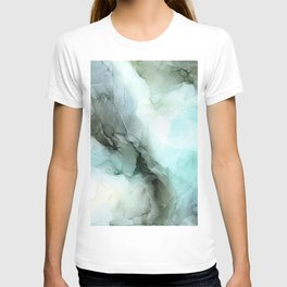 Calm Nature Inspired Abstract Flow Landscape Painting T-shirt